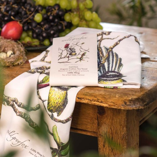 Organic Cotton Fantail Tea Towel