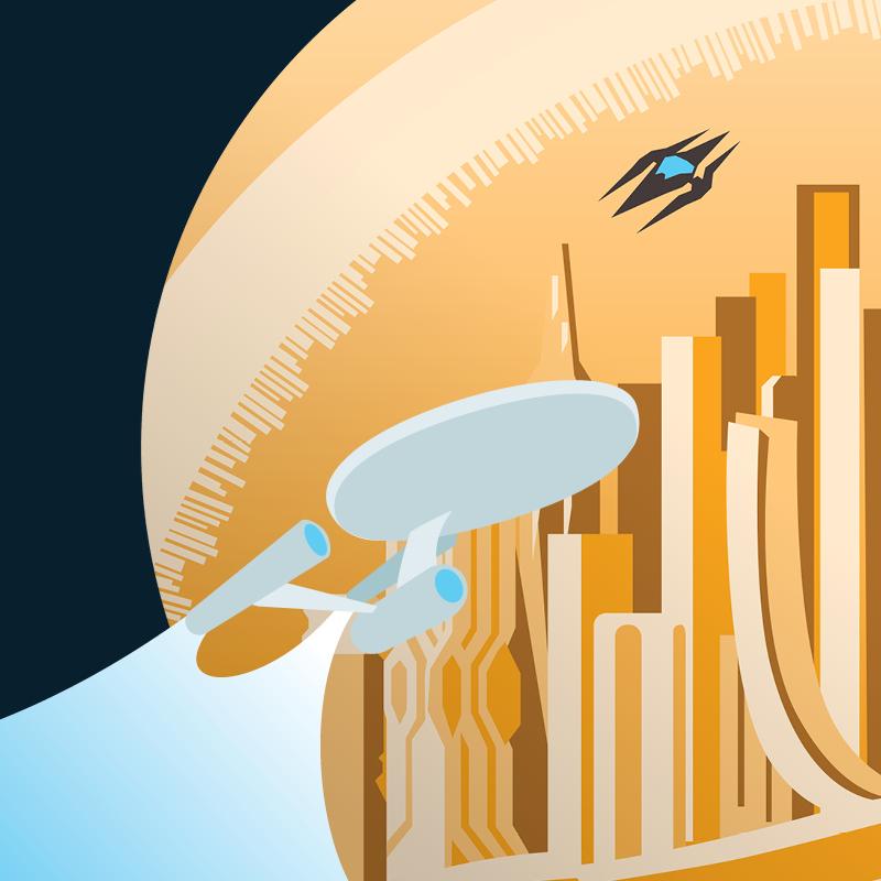 Illustration from the scene of Star Trek beyond