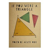 Acute Triangle Card by Natty