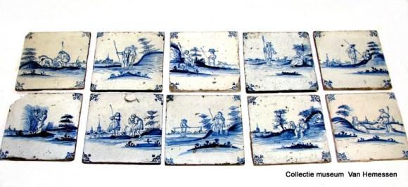 0039 - 0048, Delfts-blauw tegel-tableau