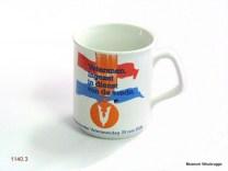 Gedenkbekers veteranen ; 1980 ; 2001 ; 2006 Schenking via J. Stigter,14-03-09.