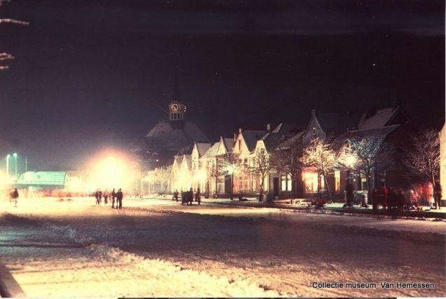 Woubrugge 1979, ijsbaan op de Wetering, Comriekade