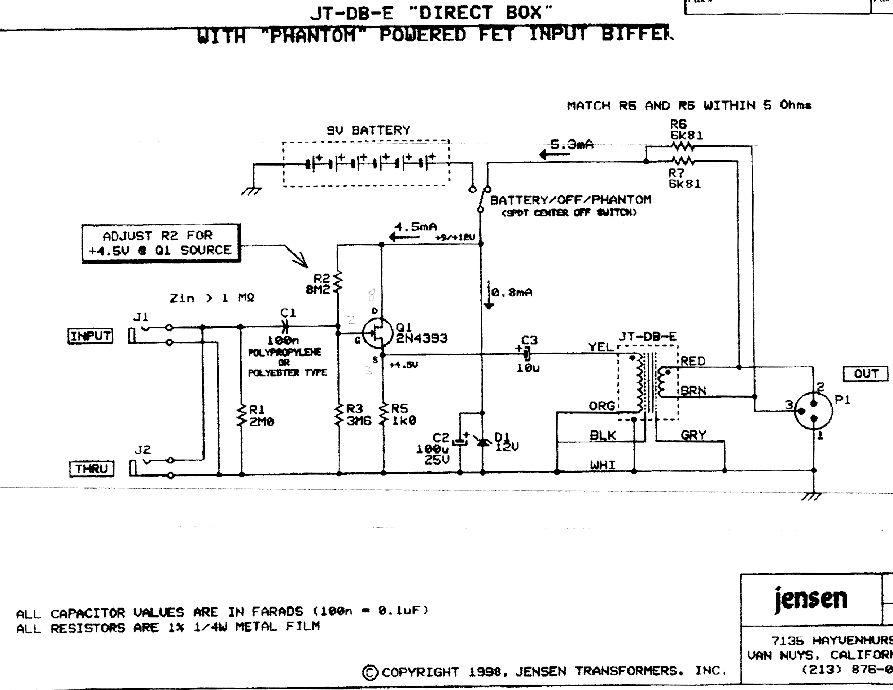 Akg Microphone Wiring Diagram Diy Hi Z Preamp Buffer Resources