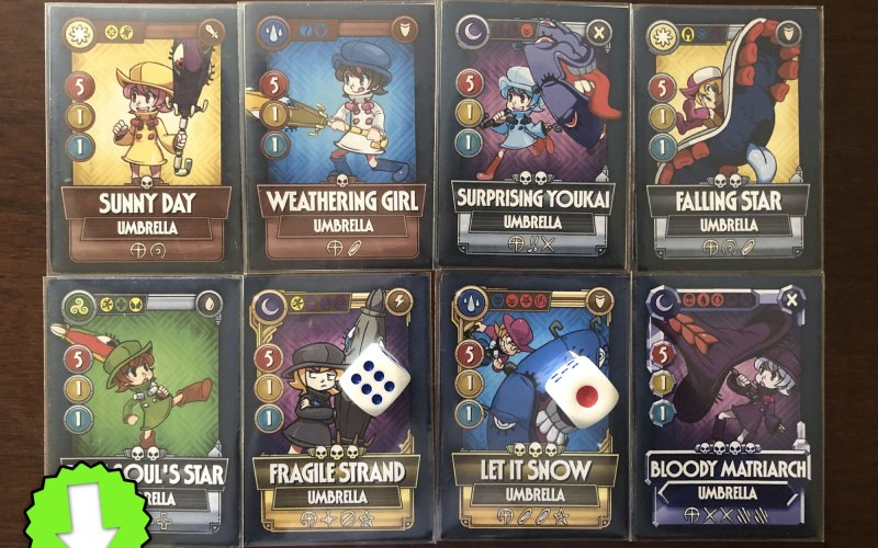 Umbrella Skullgirls Mobile – Tabletop Fighters playing Cards