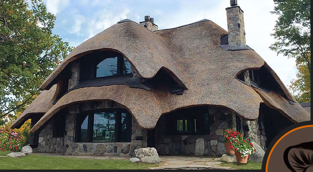 charlevoix mushroom houses the thatch house