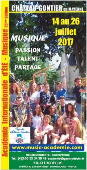 Téléchargez le bulletin d'inscription 2017 pour la 35ème édition de l'Académie Internationale