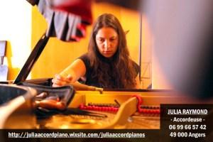 Julia Raymond, accordeur professionnel
