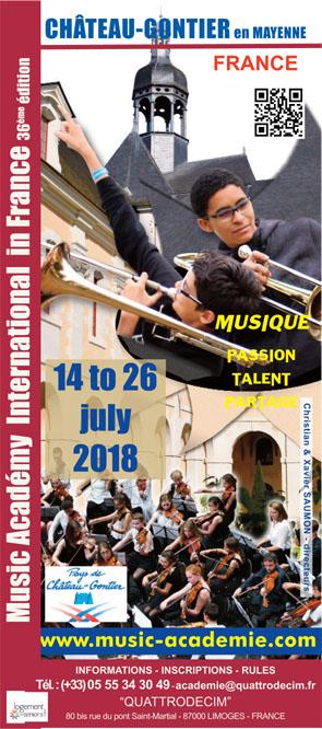 Bulletin d'Inscription 2018 English Version