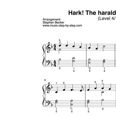 """Hark! The herald angels sing"" für Klavier (Level 4/10)"