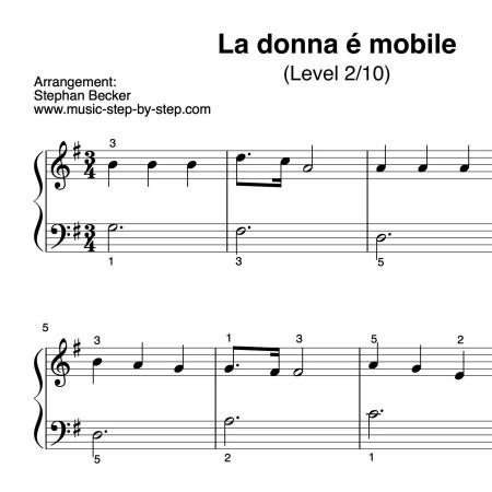 La Donna É Mobile für Klavier