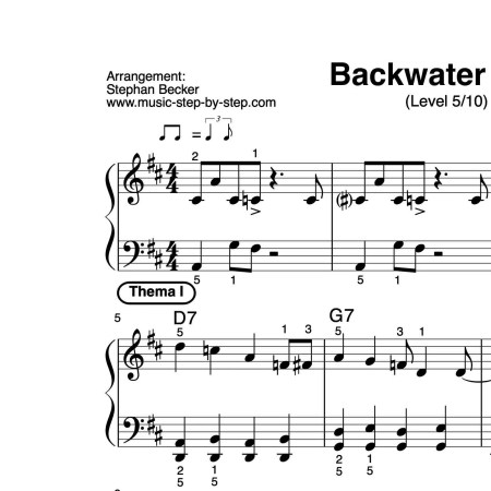 """Backwater Blues"" für Klavier (Level 5/10) 