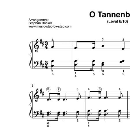 """""""O Tannenbaum"""" für Klavier (Level 6/10)   inkl. Aufnahme und Text by music-step-by-step"""