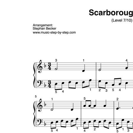 """""""Scarborough Fair"""" für Klavier (Level 7/10)   inkl. Aufnahme und Text by music-step-by-step"""