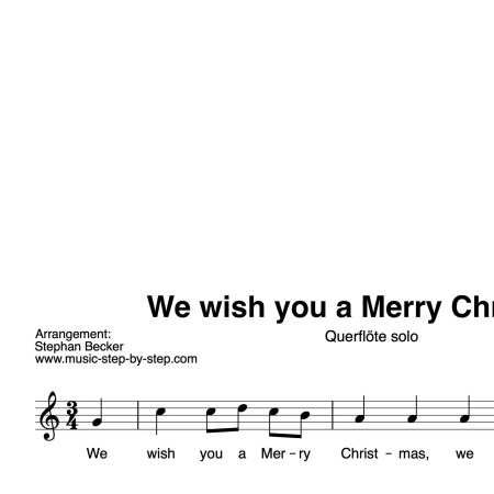 """We wish you a Merry Christmas"" für Querflöte solo 