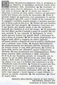 Max Ehrmann: Desiderata (San Paolo a Baltimora)