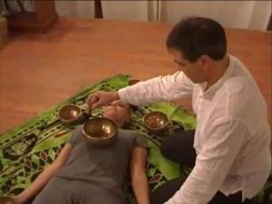 Massaggio sonoro campane tibetane, singing bowls