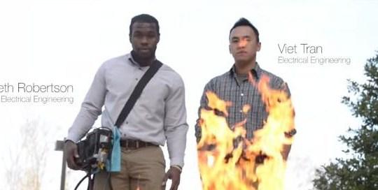 Spegnere il fuoco con il suono!