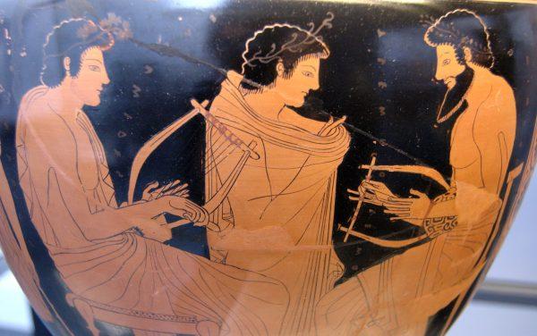 vaso greco con musicisti