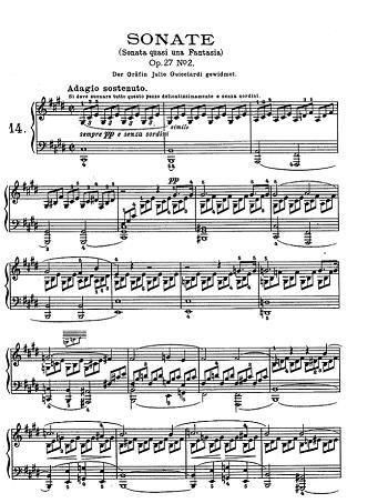 Risultati immagini per sonata al chiaro di luna