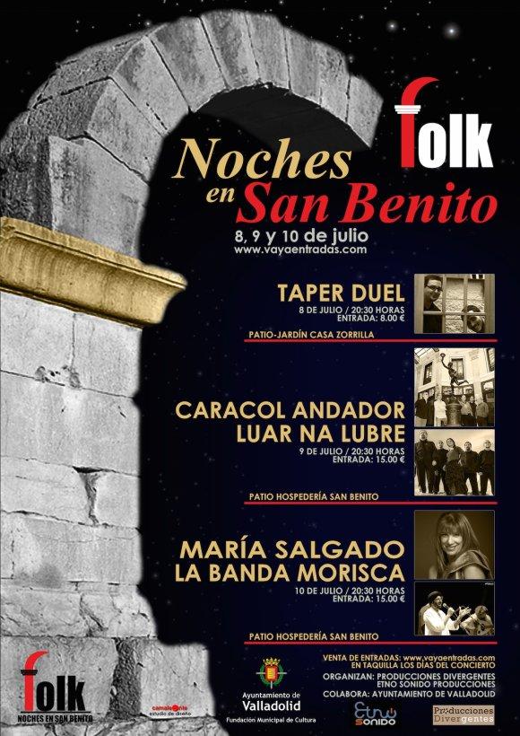 Cartel de las Noches Folk en San Benito