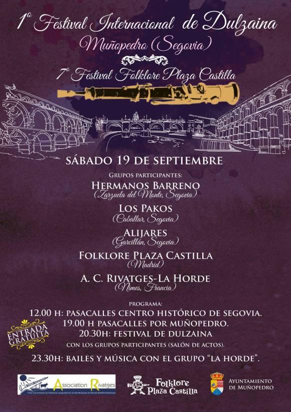 Cartel del 1º Festival Internacional de Dulzaina de Muñopedro