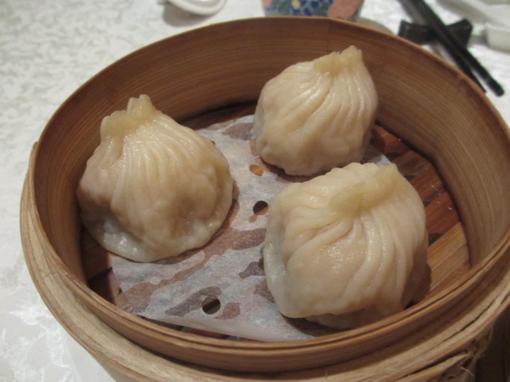 Soup dumpling at Chinese restaurant in Okura Shanghai