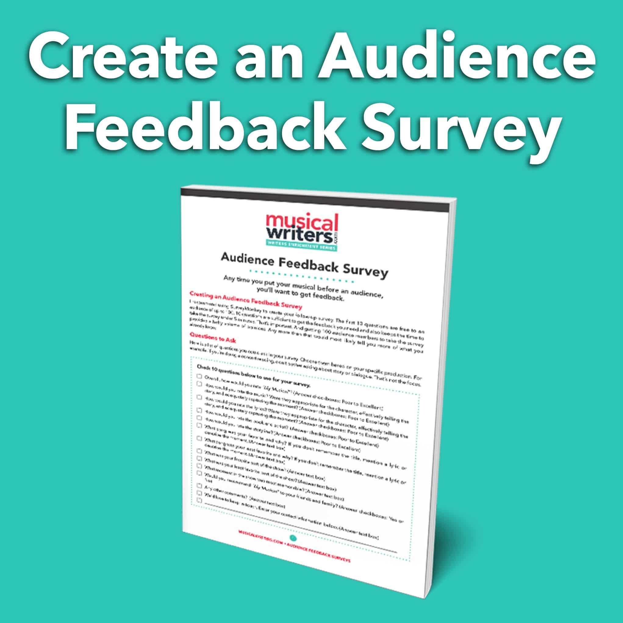 Creating An Au Nce Feedback Survey Worksheet