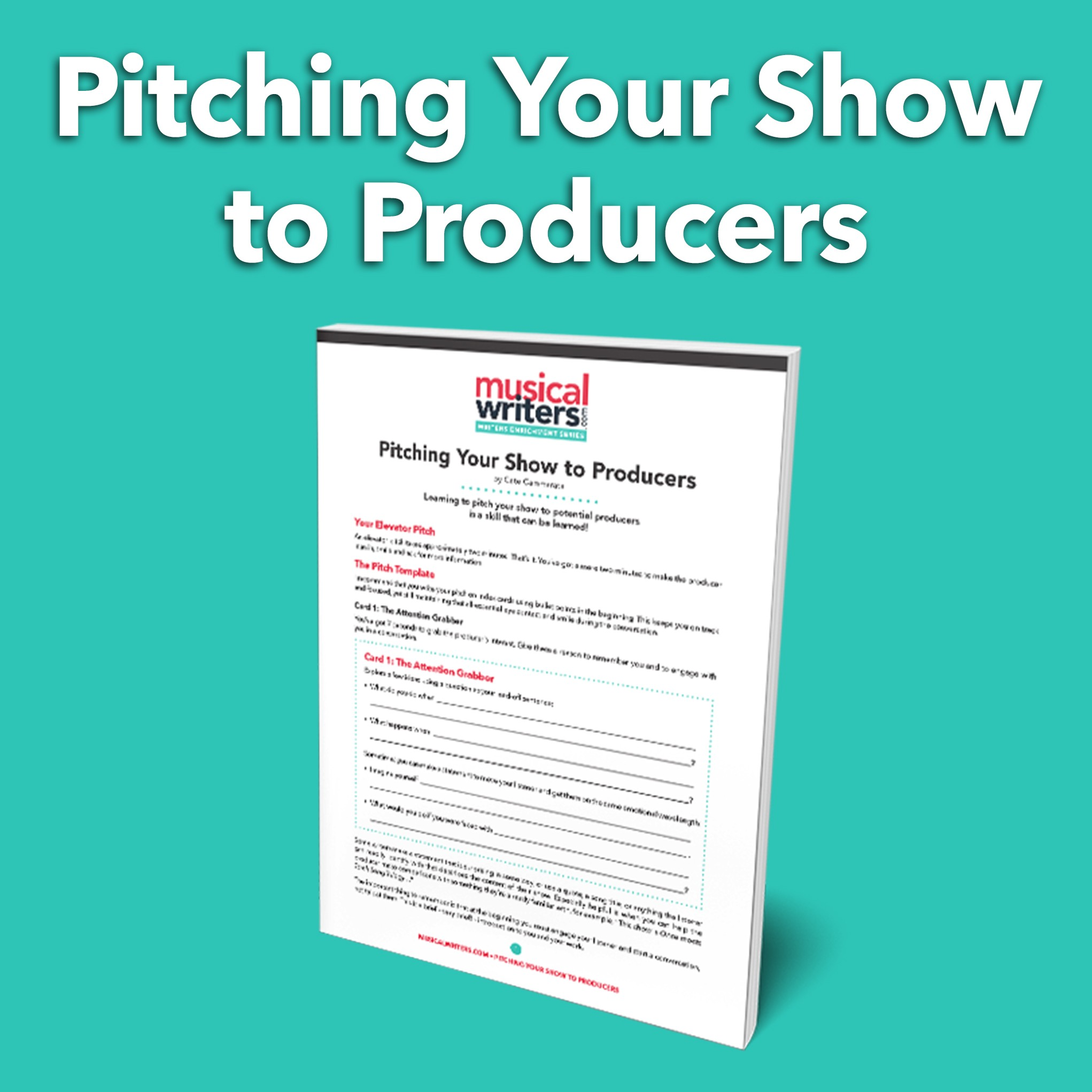 Pitching Your Show To Producers Worksheet