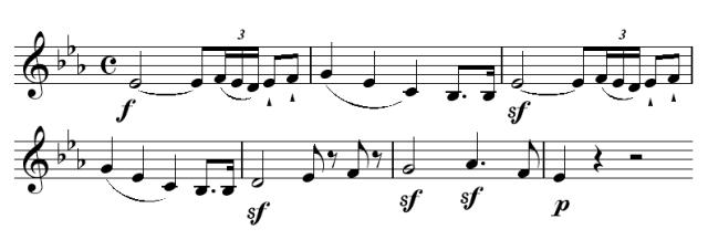 """Tema principale oncerto per pianoforte e orchestra n. 5 op. 73 in mi bemolle maggiore detto """"L'Imperatore"""""""