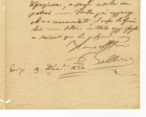firma Vincenzo Bellini