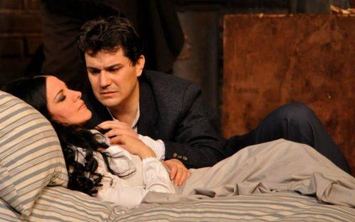 Saimir Pirgu con Angela Gheorghiu - Boheme Liceu Barcellona - Photo Irina Stanescu