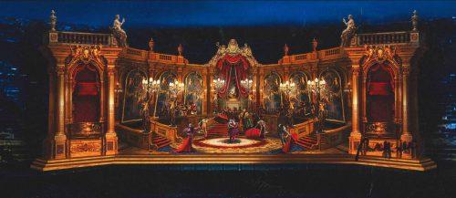 2019 Arena di Verona, La Traviata, atto II quadro II. Bozzetto di Franco Zeffirelli - ©Fondazione Arena di Verona