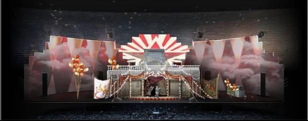 Bozzetto scenografico per Pagliacci, 2021 © Fondazione Arena di Verona