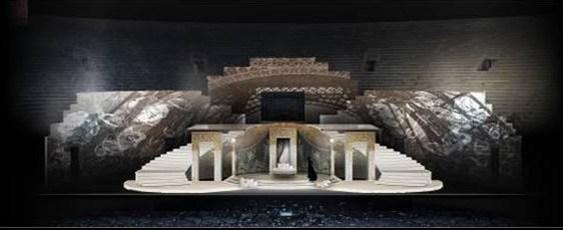 Bozzetto scenografico per La Traviata, atto I, 2021 © Fondazione Arena di Verona