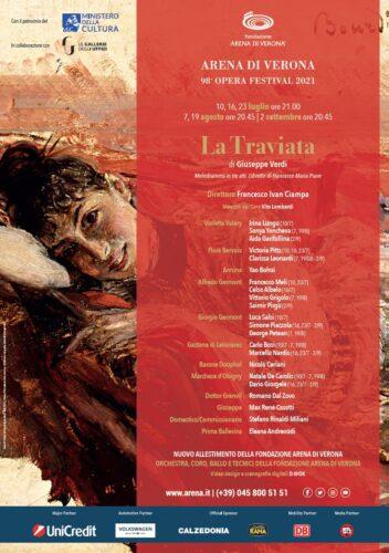 Manifesto Traviata Arena di Verona 2021