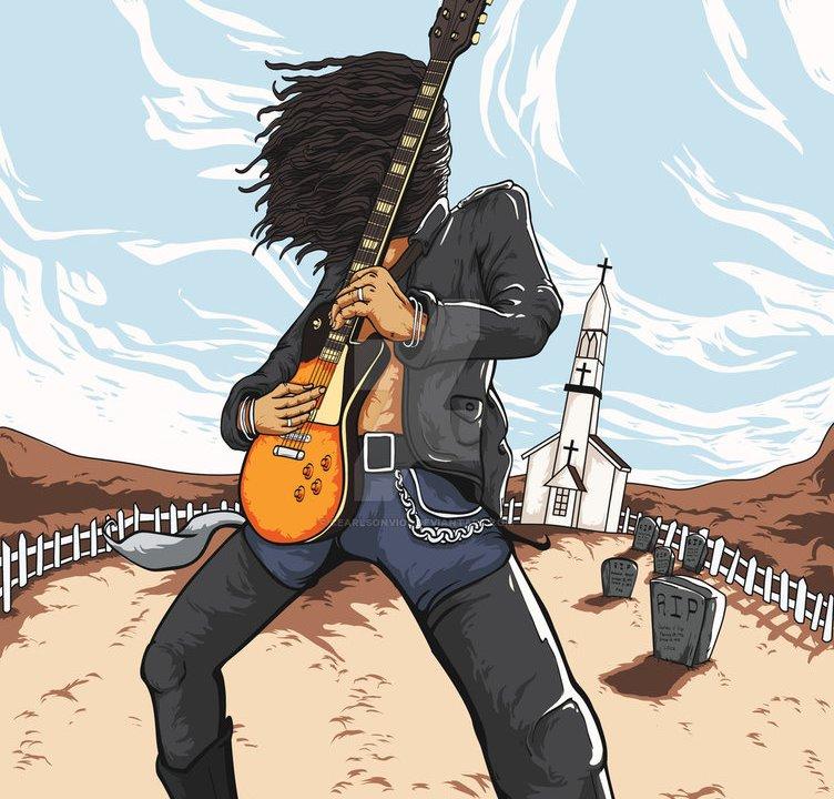 Slash interpreta uno de sus solos de guitarra