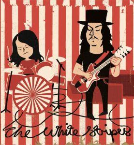 Caricatura de The White Stripes