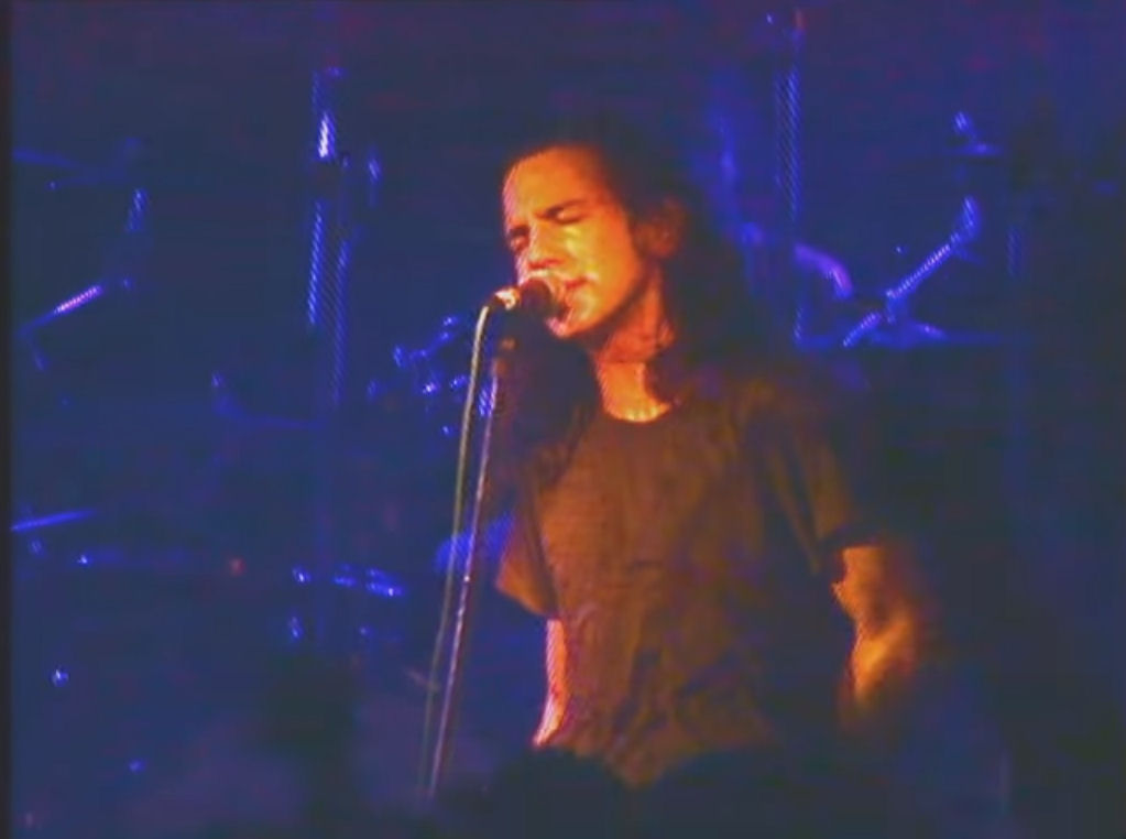 Eddie Vedder, durante el concierto