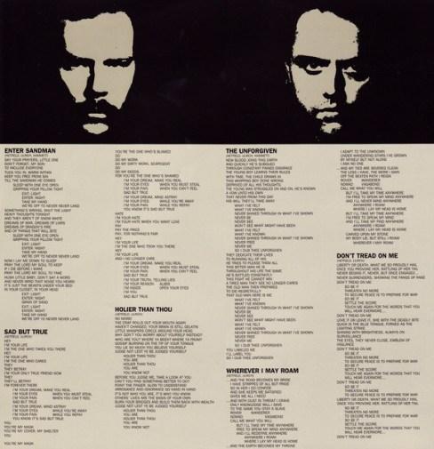 Letras del Black Album I