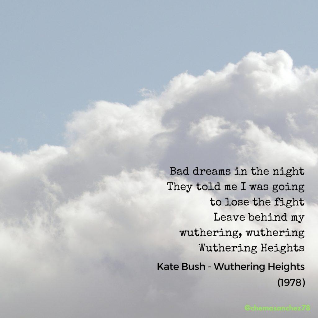 Extracto de la canción Wuthering Heights para instagram