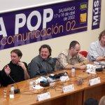 Jornada Música Pop y Medios de Comunicación, celebrada en 2002, con Chris Barron a la derecha