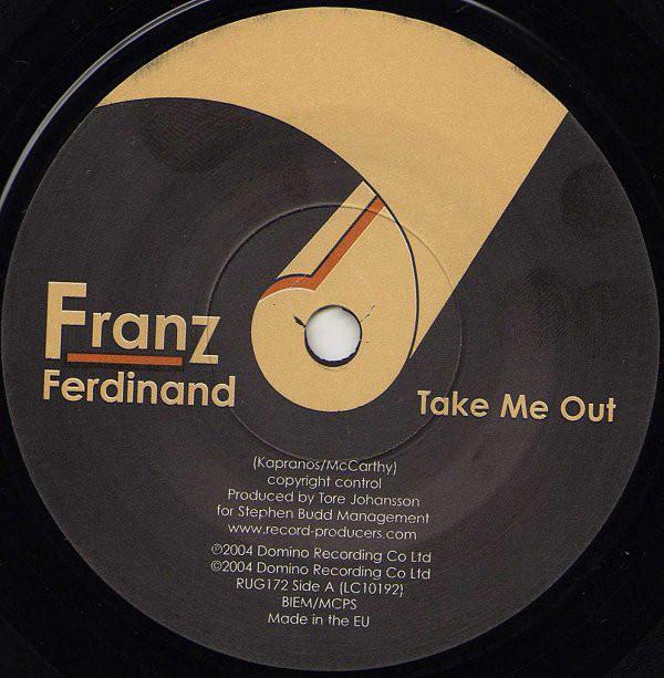 Interior del sencillo Take me out de Franz Ferdinand