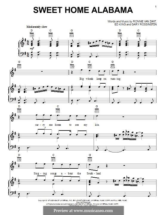 Sep 07, 2018· by lynyrd skynyrd. Sweet Home Alabama Lynyrd Skynyrd By E King G Rossington R V Zant On Musicaneo