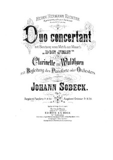 Duo Concertant for Clarinet, Horn and Piano on Themes from