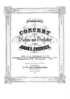 Violin Concerto in A Major, Op.6 by J. Svendsen on MusicaNeo