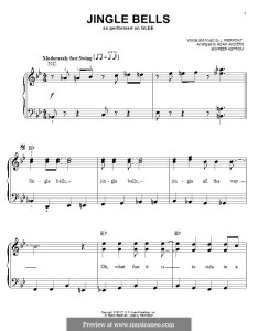 Jingle bells for piano easy version by james lord pierpont also   sheet music on musicaneo rh