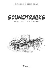 Four Soundtracks for classical guitar duet by K. Grigoreas