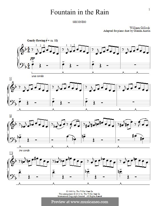 Fountain in the Rain by G. Austin - sheet music on MusicaNeo
