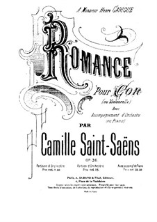 Romance for Horn (or Cello) and Orchestra, Op.36 by C