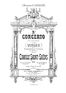 Concerto for Violin and Orchestra No.3 in B Minor, Op.61